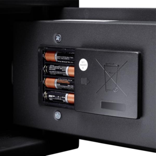 Ansicht Batteriefach Tresor