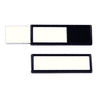 Etikettenrahmen in schwarz, selbstklebend